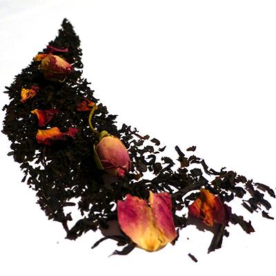 thé noir aromatisé bergamote fleurs roses - thé parfumé earl grey