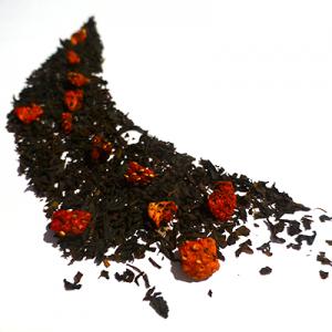 thé noir aromatisé à la fraise - thé parfumé
