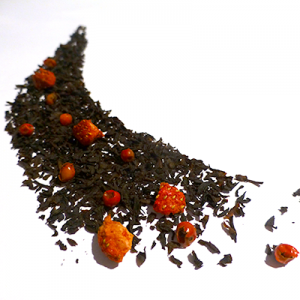 thé noir aromatisé fraise baies roses - thé parfumé