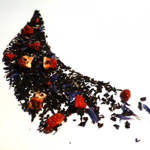thé noir aromatisé fraise et rhubarbe - thé parfumé