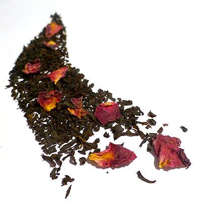 thé noir aromatisé rose - thé parfumé rose