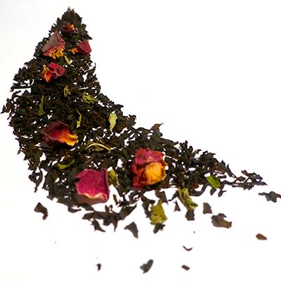 thé noir aromatisé rose et menthe - thé parfumé