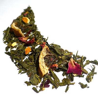 thé vert aromatisé aux agrumes - thé parfumé