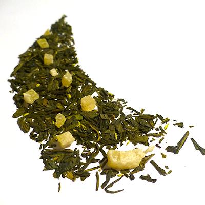 thé vert aromatisé ananas et noix de coco - thé parfumé