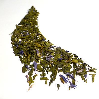 thé vert aromatisé bergamote et bleuet - thé parfumé earl grey