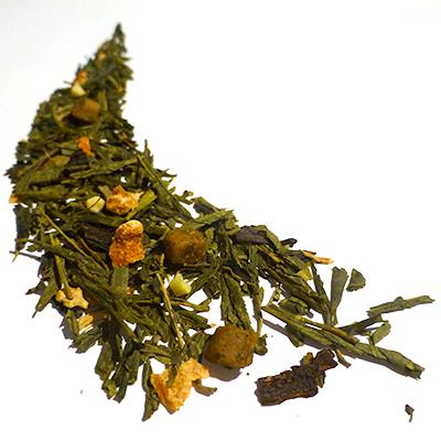 thé vert aromatisé caramel et praliné - thé parfumé