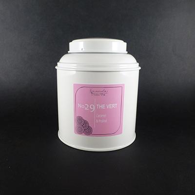 thé vert aromatisé caramel et praliné - thé parfumé boîte