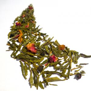 thé vert aromatisé cassis et figue - thé parfumé