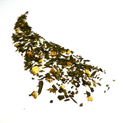 thé vert aromatisé cédrat et gingembre - thé parfumé