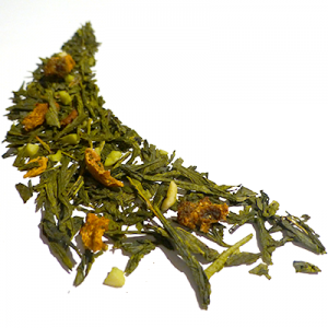 thé vert aromatisé citron caramel et vanille - thé parfumé