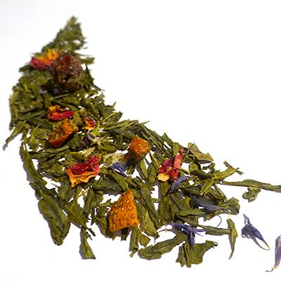 thé vert aromatisé fraise et framboise - thé parfumé