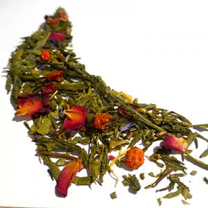 thé vert aromatisé fraise et rose - thé parfumé