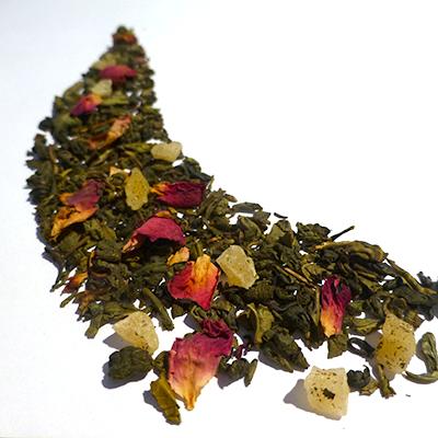 thé vert aromatisé fruits exotiques - thé parfumé