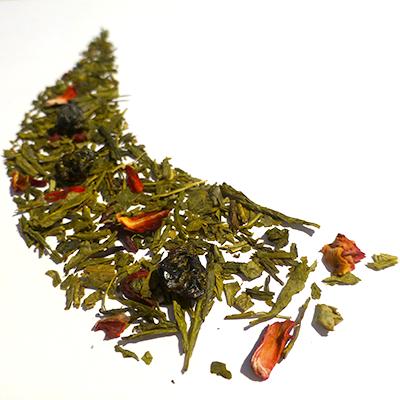 thé vert aromatisé petits fruits rouges - thé parfumé