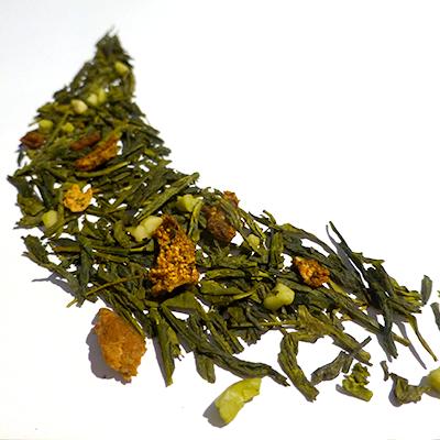 thé vert aromatisé poire et amande - thé parfumé