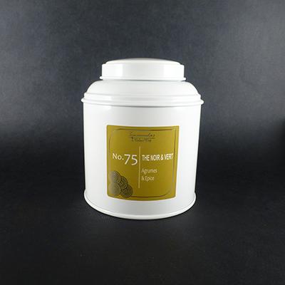 thé vert et noir aromatisé agrumes et épices - thé parfumé boîte