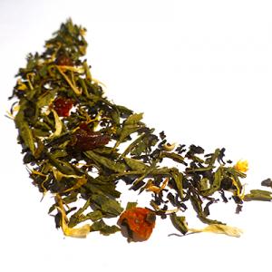 thé vert et noir aromatisé fraise fruits exotiques - thé parfumé