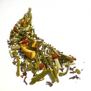 thé vert et noir aromatisé pamplemousse et baies roses - thé parfumé