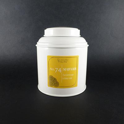 thé vert et noir aromatisé pamplemousse et baies roses - thé parfumé boîte