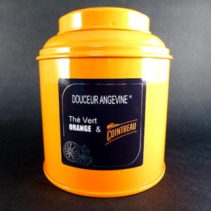 thé vert aromatisé orange cointreau-douceur angevine-boîte-thé parfumé