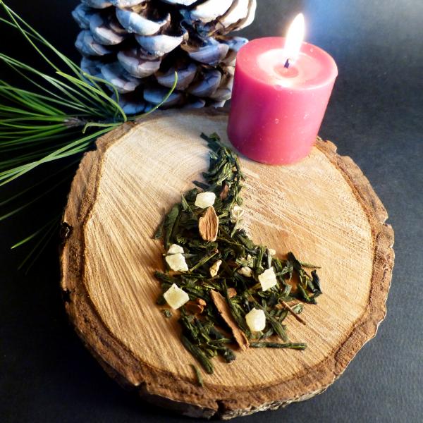 thé vert gourmand de noël sachet boîte