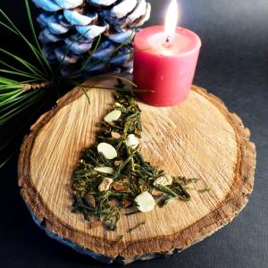 thé vert de noël flocon de neige sachet boîte